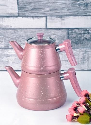 Bayev Granit Renkli Çaydanlık Takımı(Pembe) Pembe
